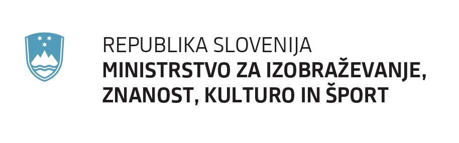 Rezultat iskanja slik za republika slovenija ministrstvo za izobraževanje znanost kulturo in šport logotip
